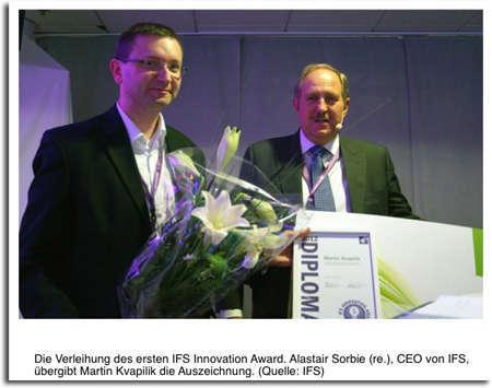 Die Verleihung des ersten IFS Innovation Award