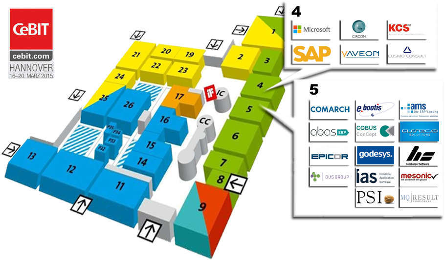 CeBIT 2015 ERP-Software