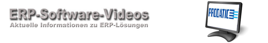 Prodatic-EDV-Konzepte GmbH ERP-Software Videos