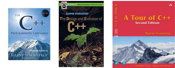 Einige der Buchtitel von Bjarne Stroustrup.